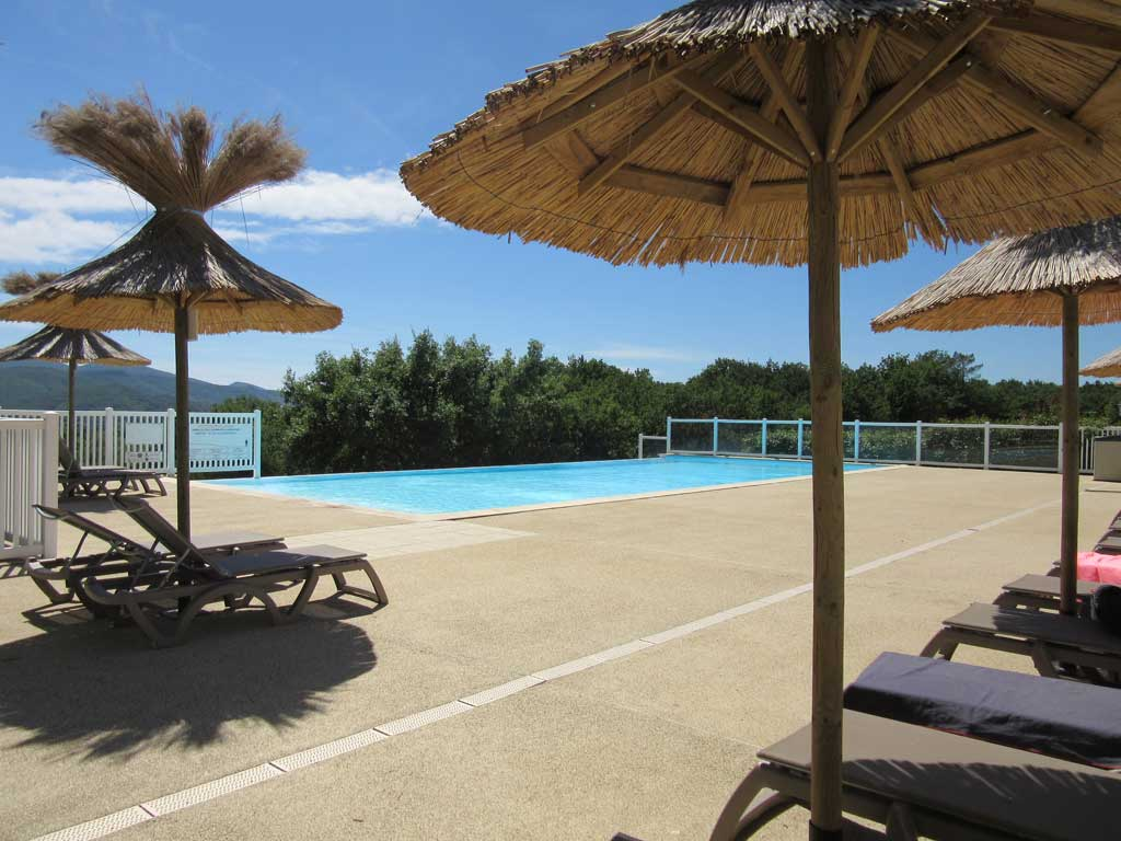 A The Entrance Of The Campsite, Near The Reception, We Have A Large Heated  Pool Of 18 M Long, Very Appreciated By Swimmers Of All Ages.